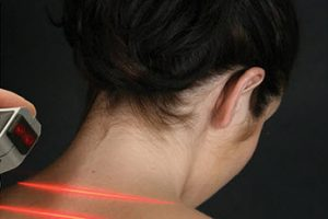 Woman receiving laser treatment